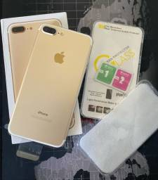 iPhone  7 Plus 128gb Dourado NOVO