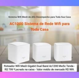 Roteador Wifi Mesh Gigabit Dual Band Ac1200 Mw5c Tenda