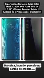 Celular Motorola Edge Solar Black, 128gb, 6gb ram, tela 6,67
