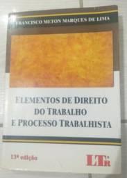 Livro Elementos De Direito Do Trabalho E Processotrabalhista