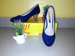 Sapato Moleca azul marinho