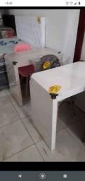 Mesa de estudo em MDF (branca ou bege)! Entrega grátis em Macaé.