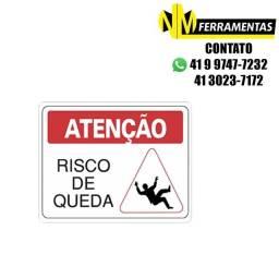 Título do anúncio: Placa Advertência Atenção Risco de Queda Unidade