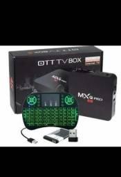 Tv box seminovo com controle 128gb