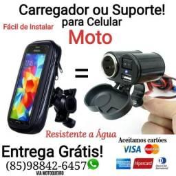 Suporte ou Carregador p MOTO ORIGINAL , Resistente a água+ Entrega Grátis.