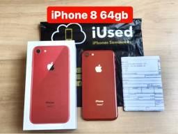 IPhone 8 64gb Red Nota Garantia - Aceitamos Cartão