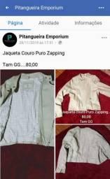 Jaqueta couro puro zapping