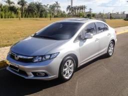 Honda Civic EXS - Com Teto e Kit Multimidea Original - 2013 - 2013