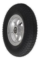 Roda de alumínio com pneu 3.50-8 para carrinho de mão carga carretinha