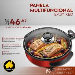 Panela Grill Multifuncional Lenoxx PPE-157 Easy Red