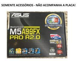 Caixa + Driver + Manuais Originais Placa Mãe Asus M5a99fx Pro R2.0 Novos - Sem A Placa