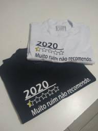 Camiseta personalizada 2020/não recomendo
