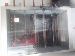 Máquina de assar frango a gás