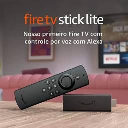 Transforme sua tv em smart Fire TV Stick Lite Controle Remoto Streaming Full HD
