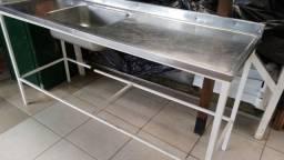 Pia inox cozinha industrial