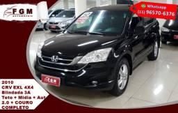 Honda Crv 2.0 Exl 4x4 16v Gasolina Aut Blindagem 3A 2010