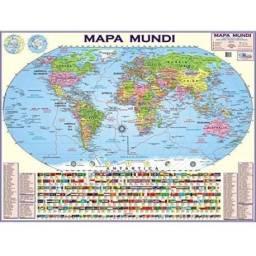Mapa Escolar Mundi Politico impermeabilizado 1,20x90 cm