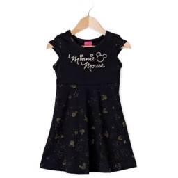 Vestido Infantil Cativa Disney Preto TAM 2