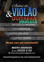 Aulas Violão-Guitarra-Ukulele