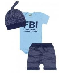 Kit Body Bebê com 3 Peças