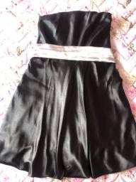 Vestido Preto Cetim