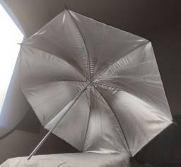 Sombrinha Rebatedora Greika Preta Prata 84cm