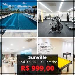 Sunville - entrada de R$ de 1000,00 + 99 meses de 999,00 sem intercaladas