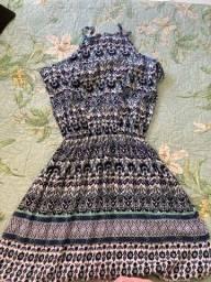 Vestido estampa etcnica