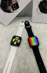Relógio Smartwatch w26 Promoção de 159,90 (( Entrego)) na cor pra e branco