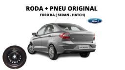 Roda Ferro Original Ford Ka, New Fiesta ( Roda + Pneu )