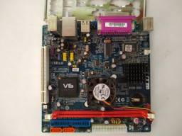 Placa mãe FSB 33 com processador Atom dual