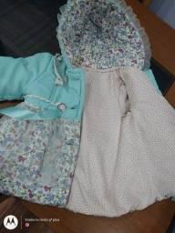 Jaqueta menina importada serve 1/2 anos