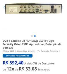 Sistema de monitoramento Giga com 8 entradas