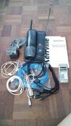 Aparelho telefone Panasonic sem fio e outros