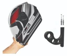 Tem promoção - Porta capacete mais parafuso e buchas de brinde