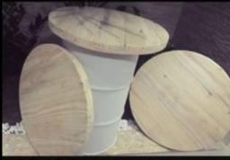 Tampa de madeira para Tambor