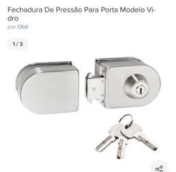 Fechadura   De pressão  p/ porta de vidro