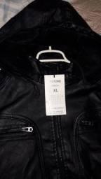 Jaqueta de couro Eastone tamanho P