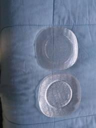 Título do anúncio: Pires de vidro quadrado frizado