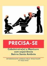 Emprego Cabeleireiro e Manicure com experiência Joinville SC