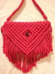 Bolsa Red de macramê