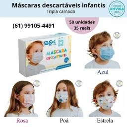 Máscara Infantil Descartável