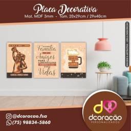 Placas Decorativas Personalizadas
