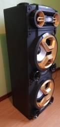 Caixa De Som Pulse Torre Double Bluetooth 10 Pol 8 Ohms 1600W Bivolt Preta