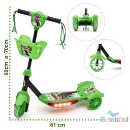 Patinete Infantil Dino 3 rodas - Material resistente