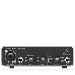 Interface De Audio U-phoria Umc22 Behringer (em até 5x sem juros)