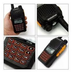 5 Unidades Radio Ht Dual Band(uhf+vhf) Baofeng Uv-6r + Fone