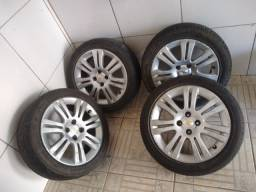 Roda aro 16 c/ pneus BARBADA