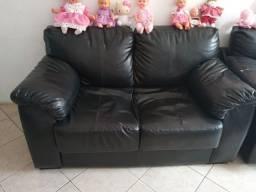 Sofá de couro 2 lugares