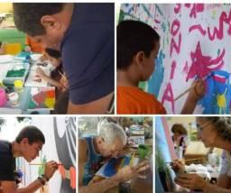 Aula de pintura em tela e arteterapia na sua casa